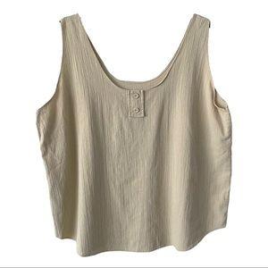 Tan Crepe Sleeveless Camisole Top XL
